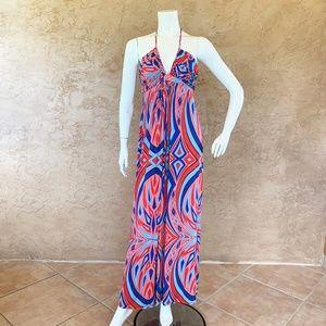 Tbags Los Angeles Maxi Geometric Dress Braided L